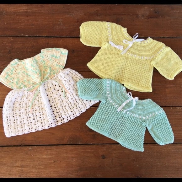 Vintage Other - Vintage | Dress and Sweaters Bundle Crocheted